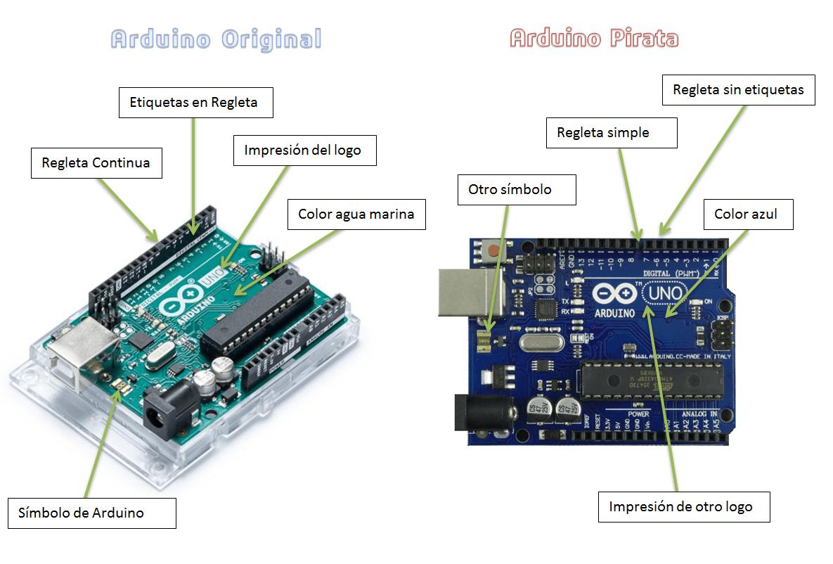 arduino original vs pirata